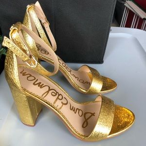 Sam Edelman Gold strappy heels